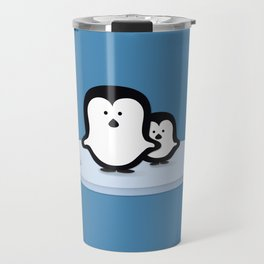 Penguins on Ice Travel Mug