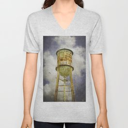 Hampton Station water tower Unisex V-Neck