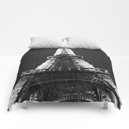 retro eiffel tower  Comforters