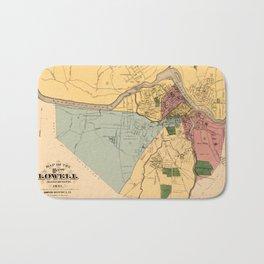 Map Of Lowell 1881 Bath Mat