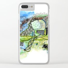 Spring Spiral Clear iPhone Case