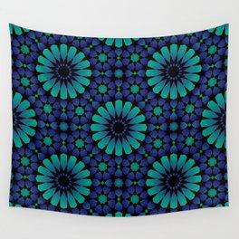 Midnight 16 Point Alhambra Star Wall Tapestry