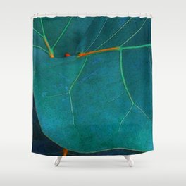 Two Sea Grape Leaves Shower Curtain