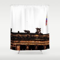 colombia Shower Curtains featuring Plaza Of Bolivar, Colombia. by Alejandra Triana Muñoz (Alejandra Sweet