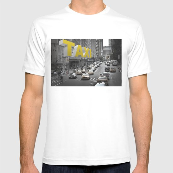 New York Taxi in the air T-shirt
