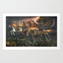 The Four Horsemen  of the Apocalypse (illustration from my painting manual Fantastic Realism) Art Print