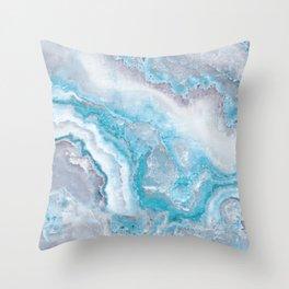 Ocean Foam Mermaid Marble Throw Pillow