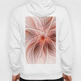 Flower Decoration, Abstract Fractal Art Hoody
