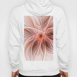 Flower Decoration, Abstract Fractal Art Hoody