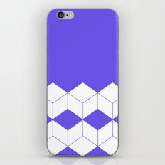 Abstract geometric pattern - blue and white. iPhone Skin