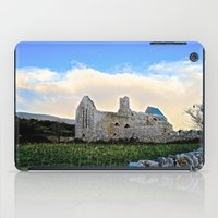 downton abbey iPad Cases featuring Corcomeroe Abbey by Biff Rendar