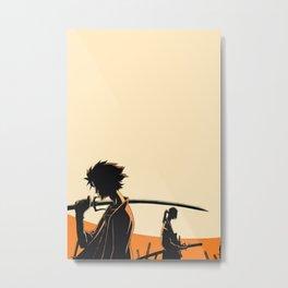 Samurai Champlo Metal Print