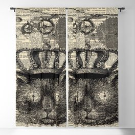 dictionary print steampunk gear halloween spooky black cat Blackout Curtain