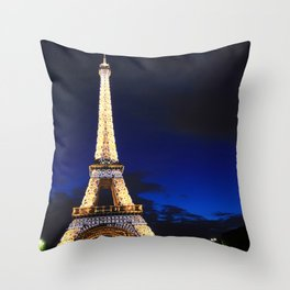 Paris French Eiffel Tower, Paris Paris love couple destination Throw Pillow