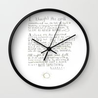 poem Wall Clocks featuring Nature Poem by alyssajeandreamer