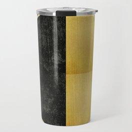 Black and Gold Circle 03 Travel Mug