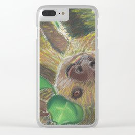 Suzie Sloth Clear iPhone Case