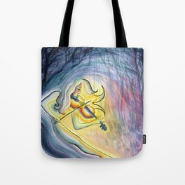 Lindsey Stirling Fan Art - First Light - Watercolor Painting Tote Bag