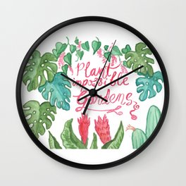 Plant Impossible Gardens Wall Clock