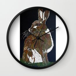 Hare Today Wall Clock
