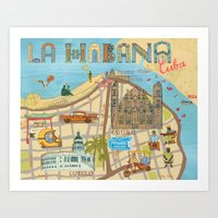 cuba Art Prints featuring Cuba by Sahily Tallet Yip