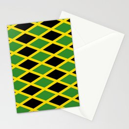Flag of Jamaica 3-Jamaican,Bob Marley,Reggae,rastafari,cannabis,ganja,america,south america,ragga Stationery Cards