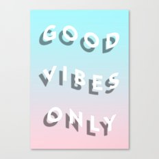 Good Vibes Only - Shadow Gradient - Vaporwave Canvas Print