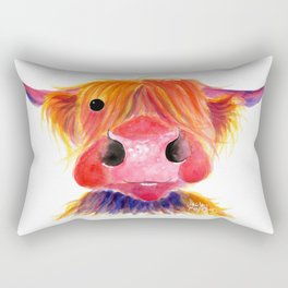 Scottish Highland Cow ' HeRbiE ' by Shirley MacArthur Rectangular Pillow
