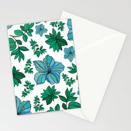 Abstract flowers background Stationery Cards