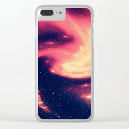 Space Explorer No8 Clear iPhone Case