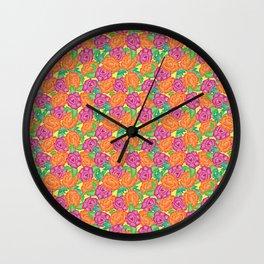 BRIGHT ROSES Wall Clock