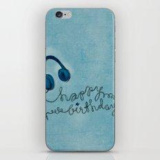 Headphone Happy Birthday iPhone & iPod Skin