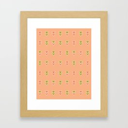 Intersecting Triangles Framed Art Print