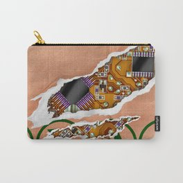 Ripped Paper Bag Circuit Board Carry-All Pouch