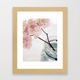 Minimalist Pink Hydrangea Framed Art Print