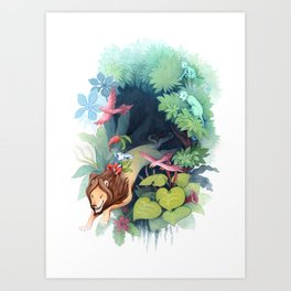 Hold on! Art Print
