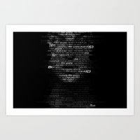 dressed in black Art Print
