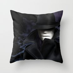 Invisible man Throw Pillow