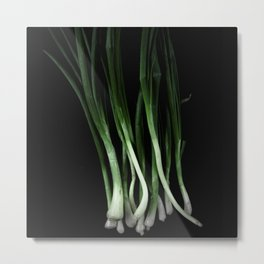 Green onion Metal Print