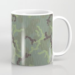 Rain in the Forest Camouflage Pattern Coffee Mug