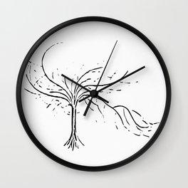 Sensual tree white Wall Clock