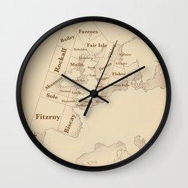 Vintage Style shipping forecast key Wall Clock