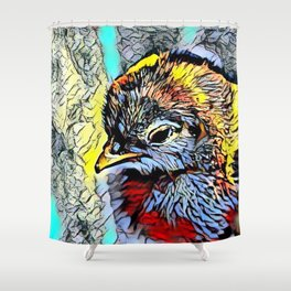 Color Kick - Chick Shower Curtain