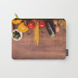 Mediterranean food Pasta tomatoes and spices Carry-All Pouch