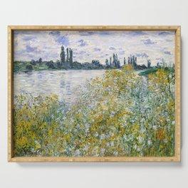 """Claude Monet """"Île aux Fleurs near Vétheuil"""" Serving Tray"""