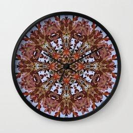 Autumn oak and pine kaleidoscope Wall Clock