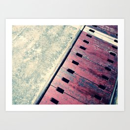 Airplane Hangar Floor 2 Art Print