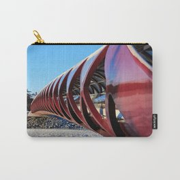 Calgary Peace Bridge in Winter Carry-All Pouch
