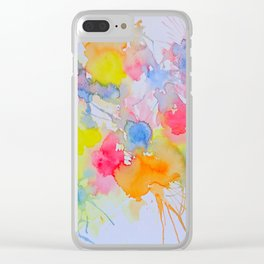 Abstract #1 Clear iPhone Case