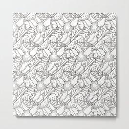 Vegetables and fruit pattern Metal Print